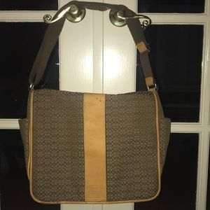 Coach messenger style diaper bag.